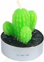 TD® Bougie à motif cactus mini plante