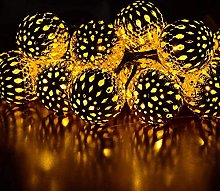 TDYWO Lampe Solaire, 20 LED Boule Marocaine Lampes