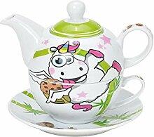 Tea for One Set de thé avec théière et soucoupe