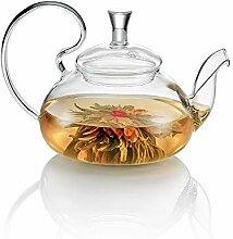 TEA SOUL, Théière en Verre avec Filtre, Pot à
