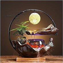 TEAYASON Fish Tank Céramique Fontaine de Table