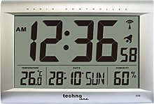 Technoline WS8009 Horloge Radio- Pilotée Gris