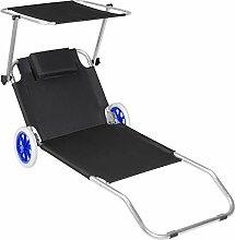 TecTake 800536 Chaise Longue de Plage Bain de