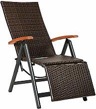 TecTake 800720 Fauteuil Relax de Jardin Pliant en