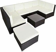 TecTake 800762 Salon de Jardin Poly Rotin, Lounge