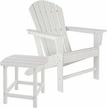 Tectake chaise de jardin janis avec table kamala -