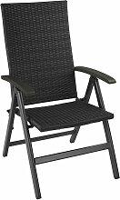 Tectake - Chaise de Jardin Pliante Réglable en