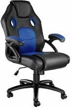 Tectake chaise gamer mike - noir/bleu 403453