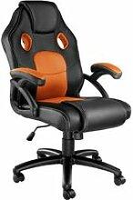 Tectake chaise gamer mike - noir/orange 403456