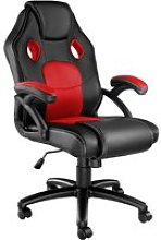 Tectake chaise gamer mike - noir/rouge 403452
