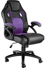 Tectake chaise gamer mike - noir/violet 403460