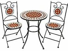 Tectake ensemble table et chaises de jardin 401637