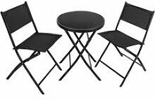 Tectake ensemble table et chaises de jardin