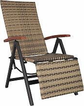 Tectake - Fauteuil de relaxation avec repose-pieds