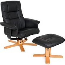 Tectake fauteuil relax avec pied en croix -