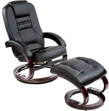 Tectake fauteuil relax pied rond 403849