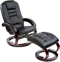 Tectake - Fauteuil relax pied rond - fauteuil avec