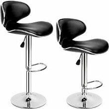 TECTAKE Lot de 2 Chaises de Bar Design Dossier