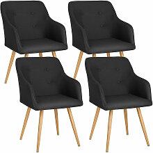 Tectake - Lot de 4 chaises style scandinave TANJA