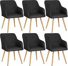 Tectake - Lot de 6 chaises style scandinave TANJA