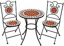 TecTake Mobilier de jardin mosaïque table et