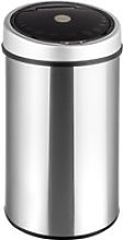 Tectake poubelle automatique - 50 l - argent 400362