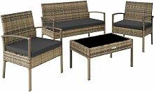 Tectake - Salon de jardin SPARTE 4 places -