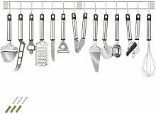 TecTake Set accessoires de cuisine en acier