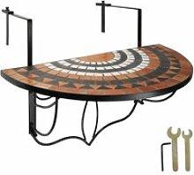 Tectake table de balcon rabattable -