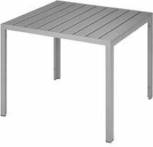 TECTAKE Table de Jardin d'Extérieur Carrée