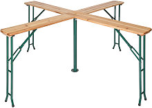 Tectake - Table de Jardin de Réception Pliante