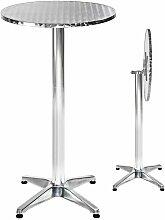 Tectake - Table Mange Debout en Aluminium pliable