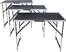 TecTake Tables à tapisser en aluminium ensemble