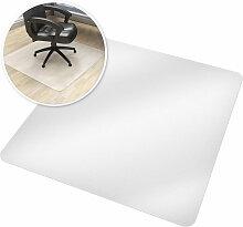 Tectake - Tapis de Bureau Carré Blanc Transparent