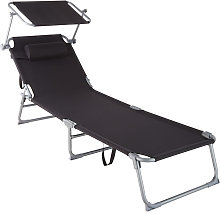 Tectake - Transat CHLOE - chaise longue, bain de