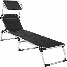 Tectake - Transat LORELLA - chaise longue de
