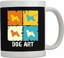 Teeburon Tibetan Terrier Dog Art Pop Art Tasse