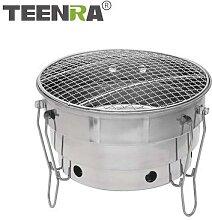 TEENRA acier inoxydable poêle grille-pain pliant