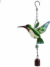 TEERSY Carillon de Vent Oiseau Vert Moderne Wind
