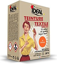 TEINTURE TEXTILE MACHINE ORANGE 350GR FIXATEUR +