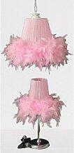Tekay chambre enfant lustre fourrure rose ensemble