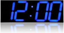 Télécommande LED horloge murale numérique pour