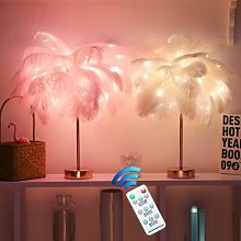 Télécommande Plume Lampe De Table USB/AA