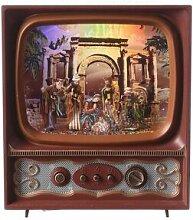 Télévision verre Noël Nativité avec Rois Mages