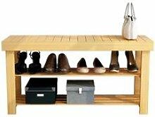 TEMPSA Banc à Chaussures à 3 Niveaux 90 x 45 x