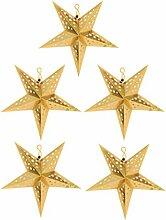 TENDYCOCO 5PCS Papier Étoiles Brillant Plafond