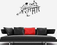 Tennis de table jeu de balle sticker mural joueur