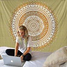 Tenture murale Mandala, tapis de plage,