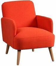 Teodore - fauteuil rembourré tissu orange