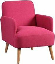 Teodore - fauteuil rembourré tissu rose